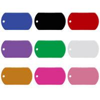 20pcs Wholesale Aluminum Dog Military ID Tags Bulk Pet Custom Blank Collar Discs