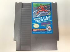 World Class Track Meet (Nintendo NES, 1987) Tested - Cleaned Contacts