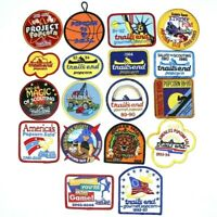 Lot of 18 Popcorn Sales Boy Scouts Patches BSA Trail's End