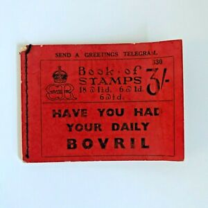 1936 King Edward VIII Book of Stamps 3/- Red Booklet No 330 - No Stamps