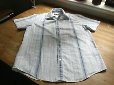 Men's Topman Short Sleeved Embossed Shirt. Size Small. Perfect Condition