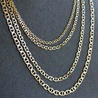 Solid 14K Yellow Gold Anchor Chain, Mariner Yellow Gold Chain Necklace