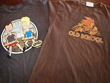 Beavis and Butt-Head School Days & Sonic the Hedgehog Old School T-shirt Sz M