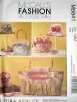 McCalls Sewing Pattern 5641 Hats Bags Handbags Fashion Accessories