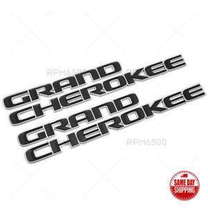 17-22 Jeep Grand Cherokee Front Door Grand Emblem Badge Decal Mopar Chrome