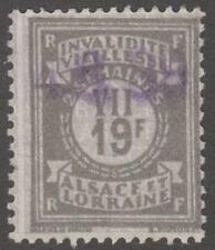 Alsace Lorraine Social Insurance Revenue Yvert #ALS135 used 19Fr 1936 cv $30