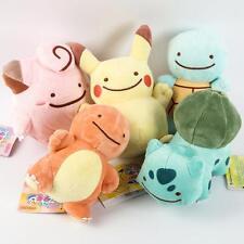 Pokemon Pikachu Charmander Squirtle Bulbasaur Clefairy Ditto Metamon 5 Plush Toy