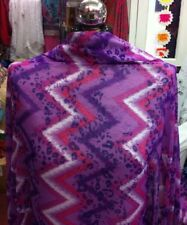 NEW**beautiful soft chiffon georgette multi coloured zigzag print 58''wide £3.95