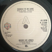 "7"" RICKIE LEE JONES CHUCK E'S IN LOVE 1979."