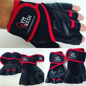 Weight Lifting Gloves workout Training Fitness Support Straps Lifting