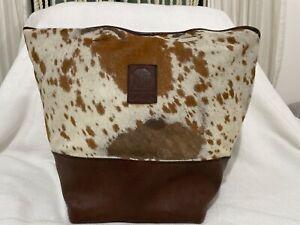 cowhide leather large bag real animal print chameleon brand bo ho cowgirl loo