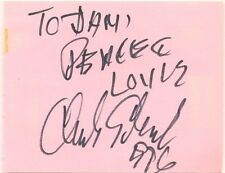 Charles Earland + Mose Allison signed autograph book page 1990s US jazz musician