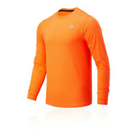 New Balance Mens Accelerate Top Orange Sports Running Breathable Lightweight
