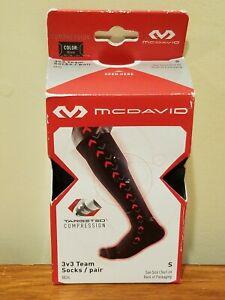 McDavid 8834 Targeted Compression 3v3 Team Socks - Pair - Black - S