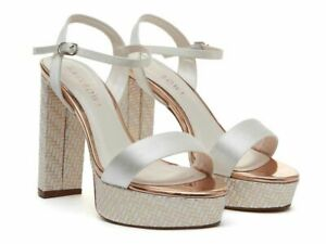 Rainbow Club Natttie parquet Ivory Satin Dyeable Formal/Wedding Shoes
