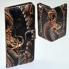 For Nokia Series Case - Dragon Theme Print Wallet Mobile Phone Case Cover #2