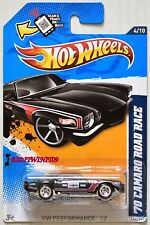 HOT WHEELS 2012 HW PERFORMANCE '70 CAMARO ROAD RACE #4/10 BLACK