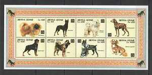 Z0101 SIERRA LEONE DOGS FAUNA DOMESTIC ANIMALS PETS YEAR OF THE DOG KB MNH