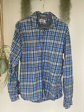Tommy Hilfiger Blue And White Checkered Shirt Size Medium