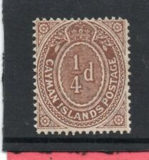 Cayman Islands EV11,1908-09, 1/4d brown sg 38 H.Mint