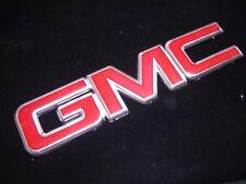 "New 14 15 16 GMC REAR TRUNK TAIL GATE Emblem RED Chrome Sierra 1500 2500 13.25"""