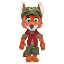 "DISNEY STORE ZOOTOPIA NICK WILDE IN JUNIOR RANGER UNIFORM NWT PLUSH FOX 9"" H"