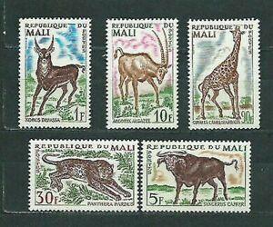 Mali - Mail Yvert 71/5 MNH Fauna