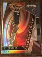 2019-20 Panini Prizm Basketball Prizm Silver Rookie Card Tyler Herro