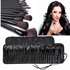 32tlg Kosmetik Echthaare Professionelle Makeup Brush Schminkpinsel Pinsel Set
