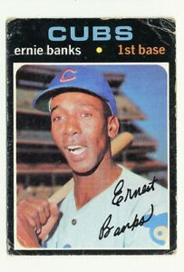 1971 TOPPS CHICAGO CUBS ERNIE BANKS #525 LOW GRADE HALL OF FAME