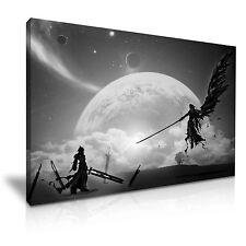 Final fantasy 7 sephiroth vs cloud toile wall art 76x50cm