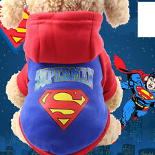 Warm Small Pet Dog Clothes Hoodie Coat Halloween Cartoon Costume Winter Apparel