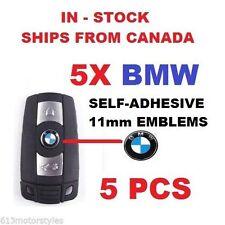 NEW 5X BMW 11mm METALLIC LOGO REMOTE KEY FOB EMBLEM BADGE 1 3 5 6 7 SERIES X5 X3