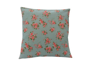 Vintage Cath Kidston rose Duck egg Floral scatter cushion covers pillow sham
