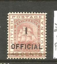 BRITISH GUIANA 1881  1 on 48c  SHIP  OFFICIAL   MNG   SG 154