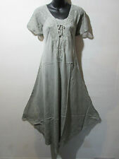 Dress Fits XL 1X 2X 3X Plus Tunic Stone Wash Gray Sundress A Shaped NWT G603