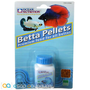 Ocean Nutrition Betta Pellets 15 grams (0.53 oz) Betta Fish Food Premium Pellet