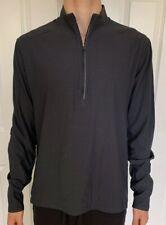 Lululemon Mens Size L Surge Warm 1/2 Zip Gray Obsi Pullover Yoga Top Run Tech