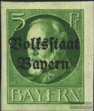 Bayern 117B postfrisch 1920 König Ludwig mit Aufdruck