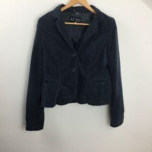 Armani Jeans Cotton Blue Regular  Blazer Jacket  Women UK 38