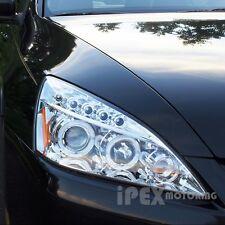 2003-2007 Honda Accord 2Dr Coupe/4Dr Sedan Halo Projector LED Headlights Chrome