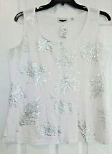 NEW Avenue womens plus size shiny sequinced sleeveless top 14/16 fits like xl/1X