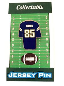 Los Angeles Chargers Antonio Gates jersey lapel pin-Classic Bolts Collectible