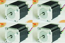 4 PCS NEMA 23 for 270oz-in CNC stepper motor/3.0A Mill, 2phases,1/4'' shaft,78mm
