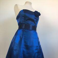 Debut Debenhams Royal Blue Navy Iridescent Evening Prom Dress Size 8