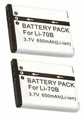 TWO 2 LI-70B Batteries for Olympus D-700 D-705 D-710 VG-110 VG-120 VG-130 VG-140