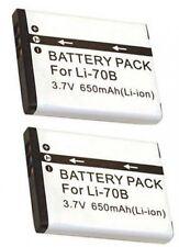 TWO 2 LI-70B Batteries for Olympus D-700 D-705 D-710 VG-110 VG-120 VG-130 VG-140