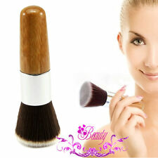 Flat Top Buffer Wooden Liquid Foundation Powder Bronzer Makeup Brush Beauty Tool