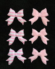 50 Bows Gingham Pink bow Baby Girl Announcements shower Favors Scrapbooking
