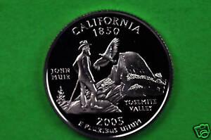 2005-S Deep Cameo SILVER GEM Proof (California)US Quarter (90% SILVER)